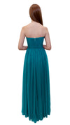 Bariano Gathered Maxi dress Teal back