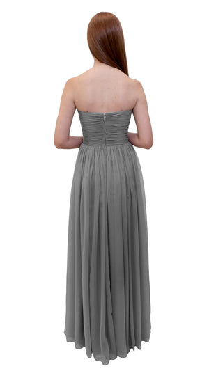Bariano Gathered Maxi dress Charcoal back