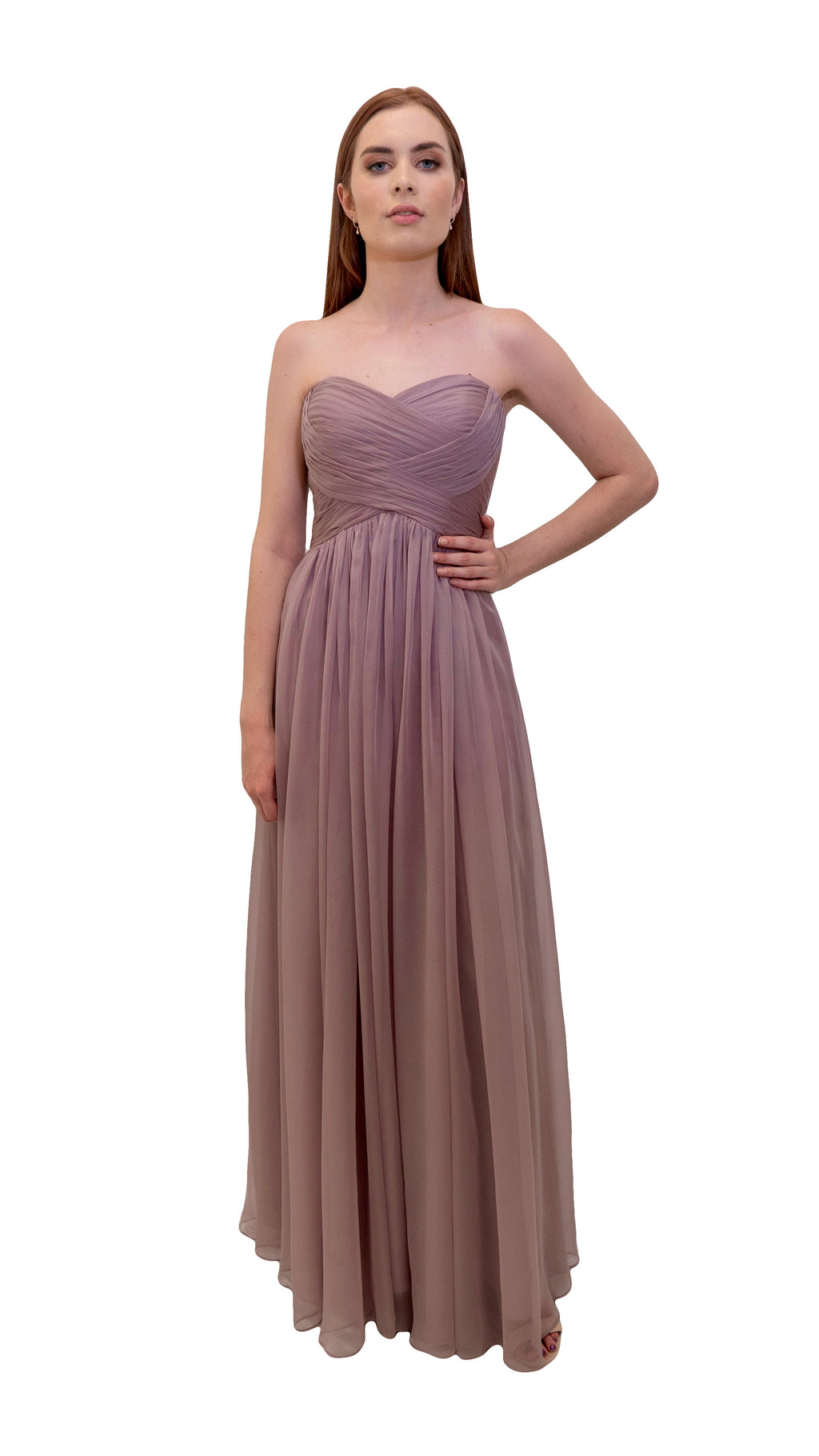 Bariano Gathered Maxi dress Dusty Pink