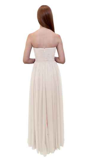 Bariano Gathered Maxi dress Ivory back