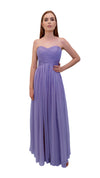 Bariano Gathered Maxi dress Lavender front
