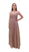 Bariano Gathered Maxi dress Mink front
