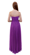 Bariano Gathered Maxi dress Orchid back