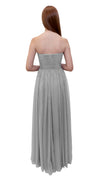 Bariano Gathered Maxi dress Silver back