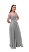 Bariano Gathered Maxi dress Silver side