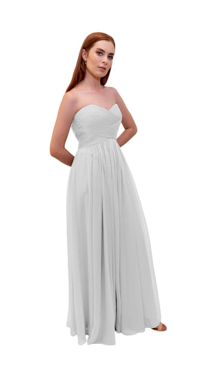 Bariano Gathered Maxi dress white side