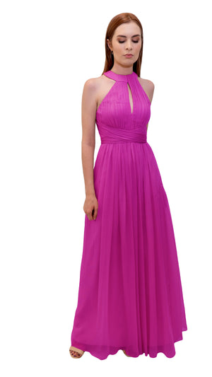 Bariano High Neck Dress Cerise
