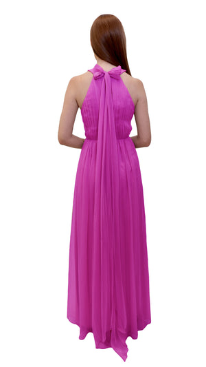 Bariano High Neck Dress Cerise Back