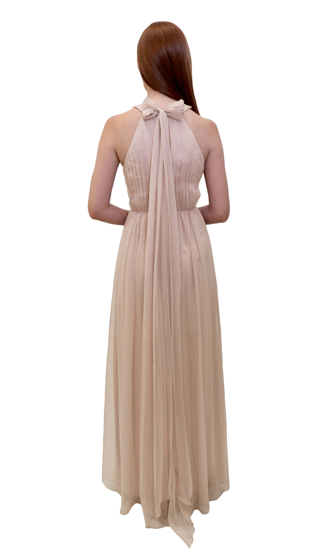 Bariano High Neck Dress Champagne back