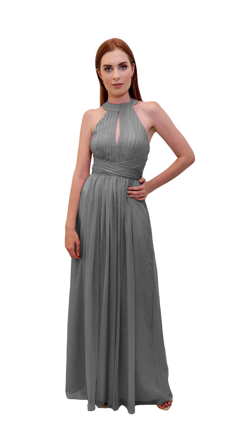 Bariano High Neck Dress Charcoal