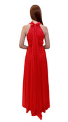 Bariano High Neck Dress Cherry back