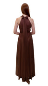 Bariano High Collar Dress Chocolate back