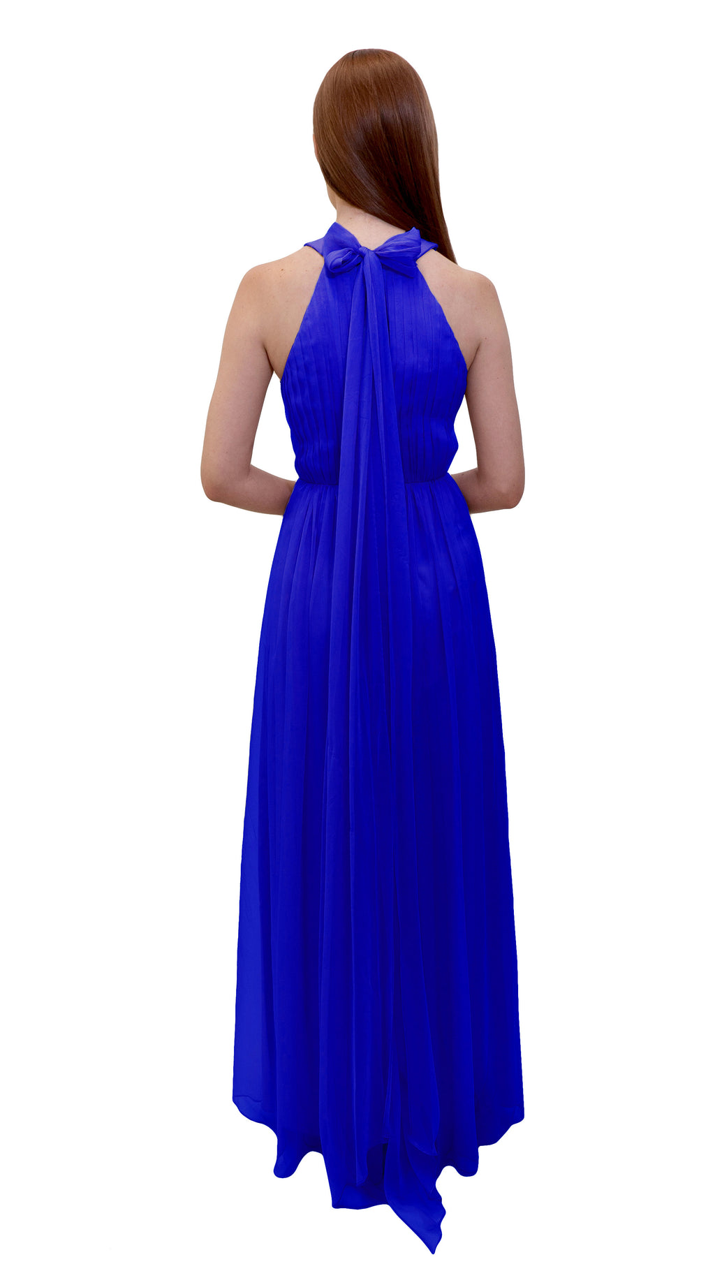 Bariano High Collar dress Cobalt back