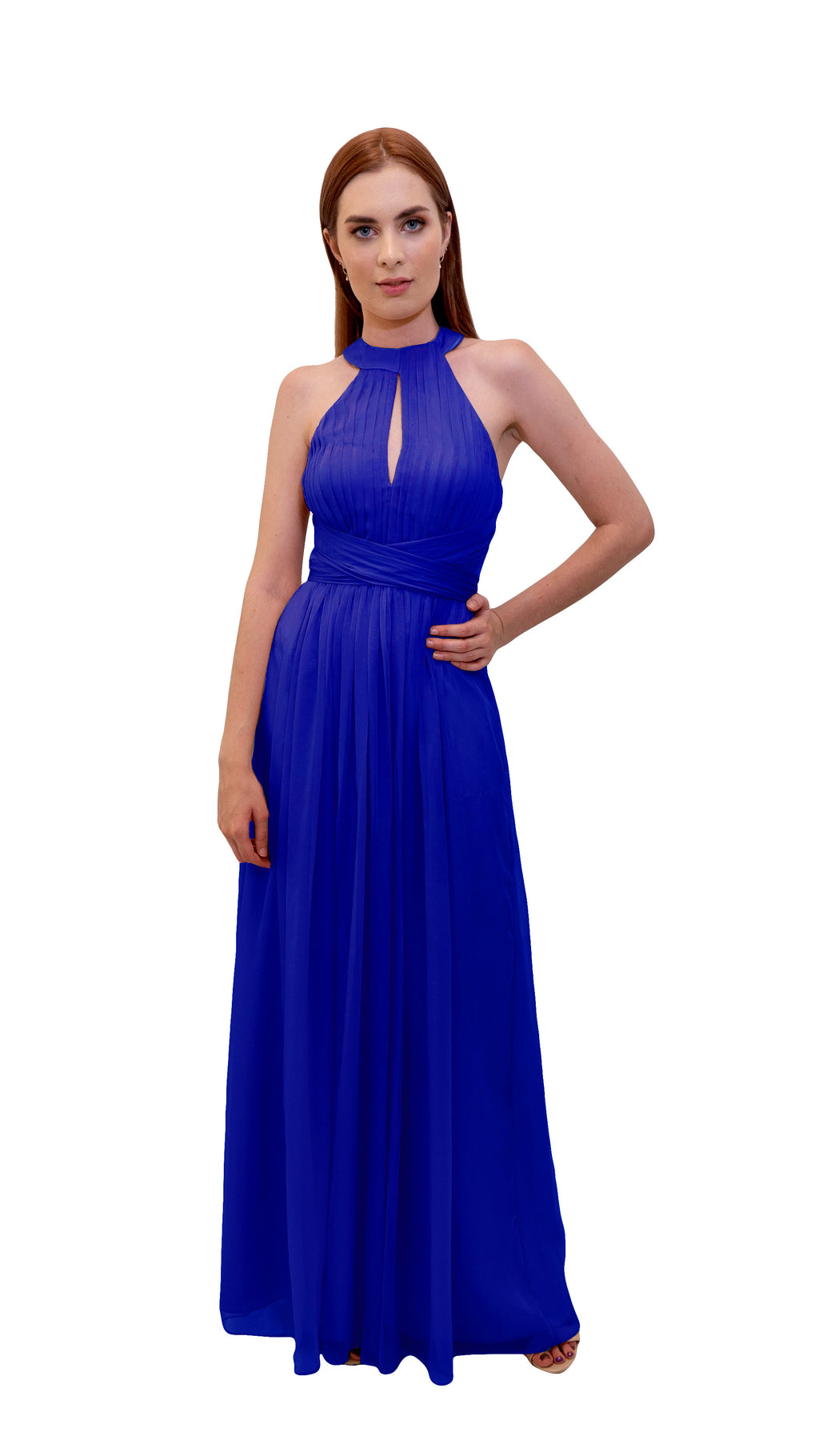 Bariano High Collar dress Cobalt