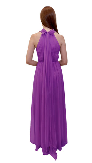 Bariano High Neck Dress Orchid back