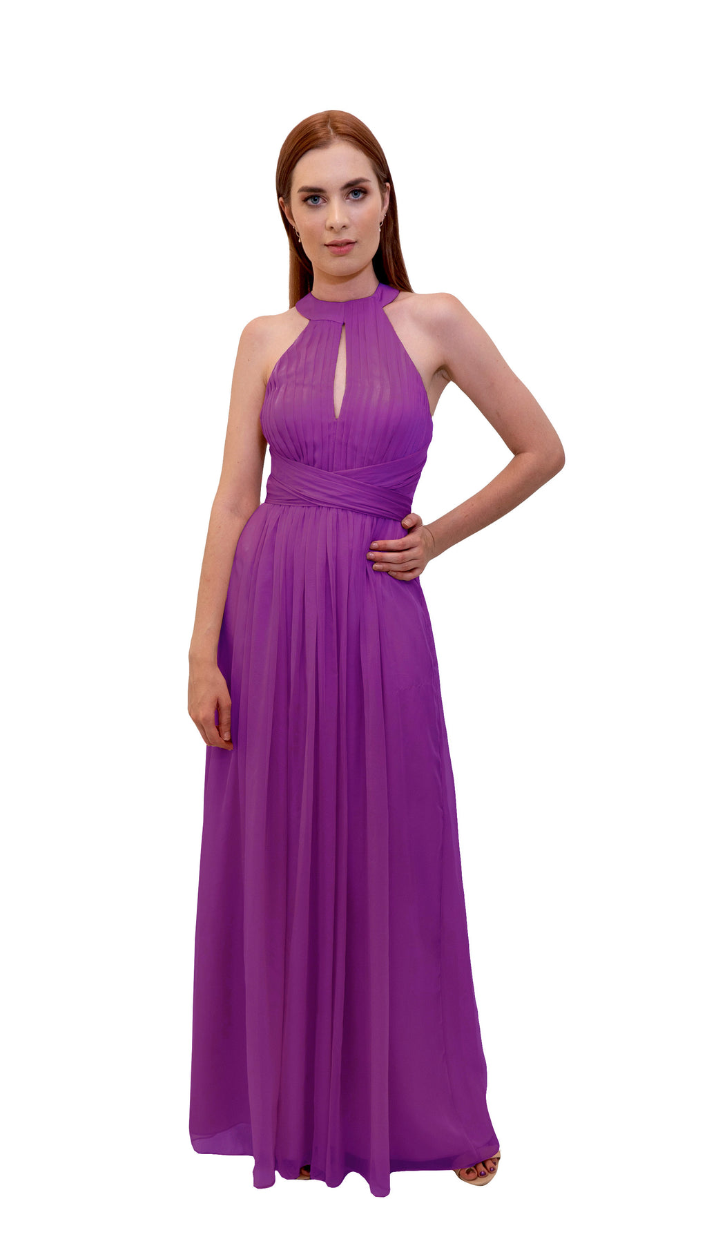 Bariano High Neck Dress Orchid