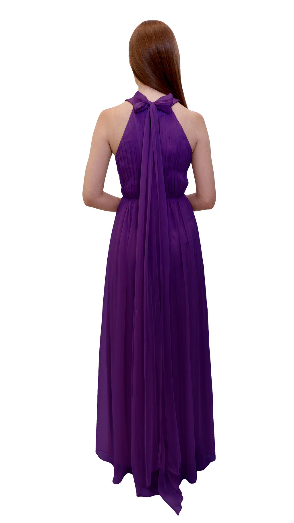 Bariano High Collar dress Purple back
