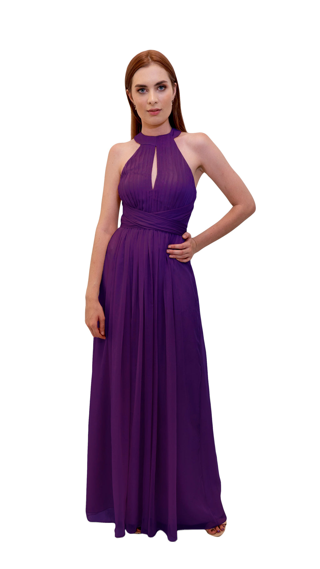 Bariano High Collar dress Purple