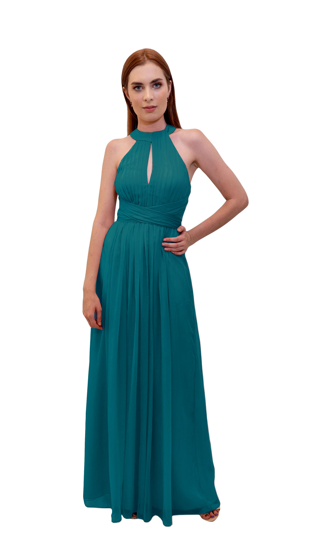 Bariano High Collar dress Teal