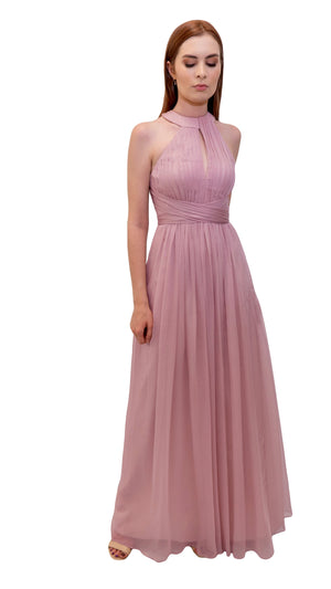 Bariano High Neck Dress Dusty Pink