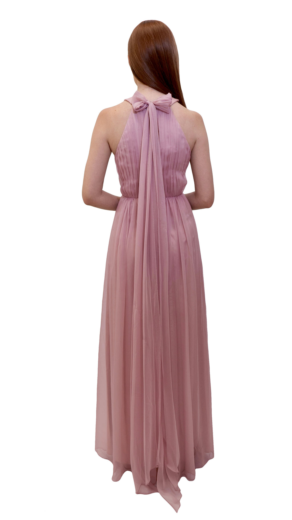 Bariano High Neck Dress Dusty Pink back