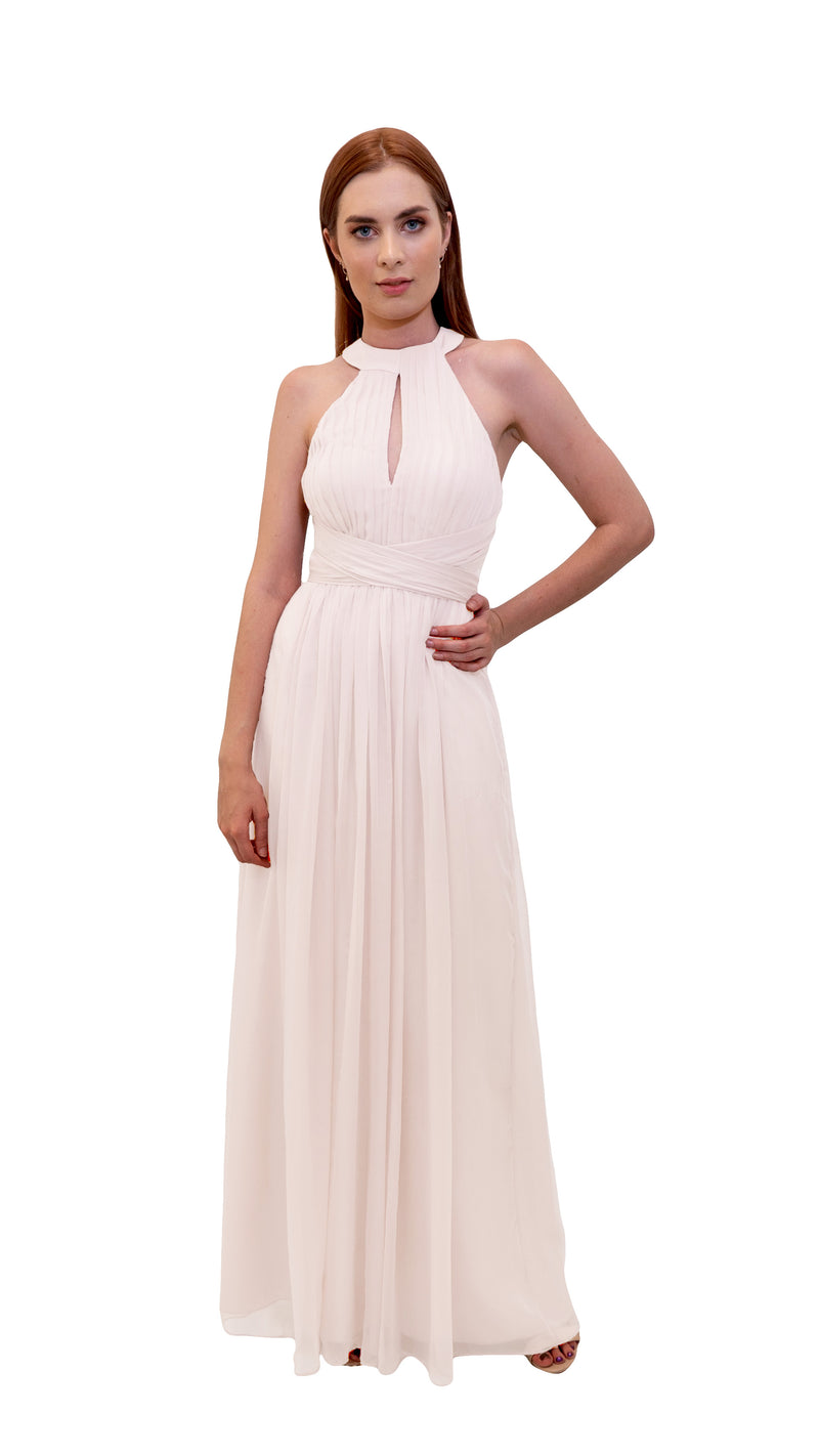 Bariano High Neck Dress Ivory