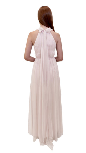 Bariano High Neck Dress Ivory back