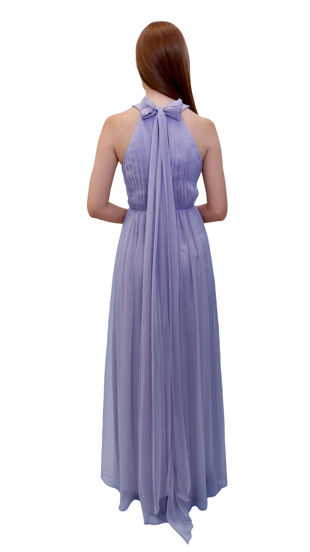 Bariano High Neck Dress Lavender back