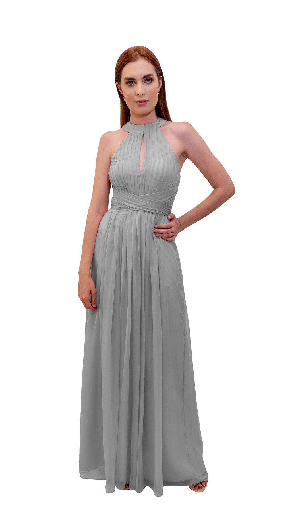 Bariano High Neck Dress Silver