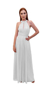 Bariano High Neck Dress White