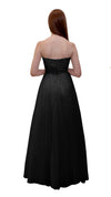 Bariano Mary Lace ball Gown Black back