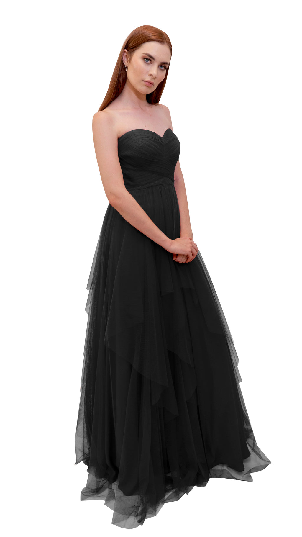 Bariano Petranzia Tulle Ball Gown Black