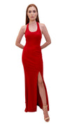 Bariano dreams scoop neck dress red front