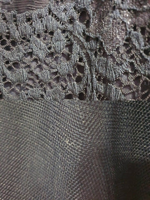 Bariano Mary Lace & Tulle Fabric Dark Navy
