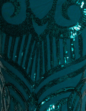 Emerald Pattern Sequin Fabric