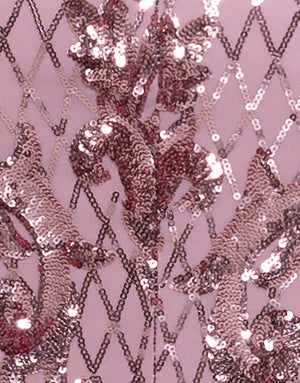 Bariano Grace pattern Sequin Pink fabric
