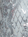 Bariano Grace pattern Sequin Silver fabric