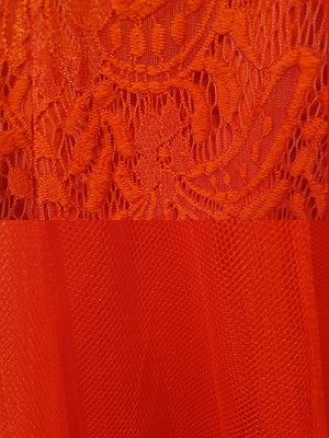 Bariano Mary Lace & Tulle Fabric red