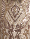 Rose Gold and Gold Pattern Sequin Fabric