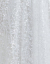 Glitter Tulle Fabric in White