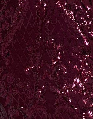 Bariano Wine Pattern Sequin