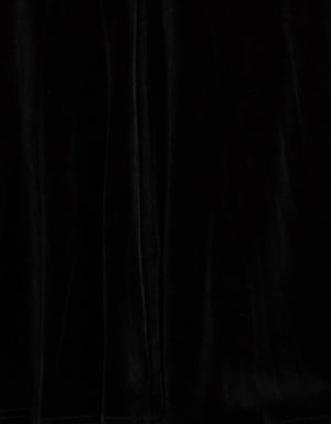 Bariano Faux velvet fabric black