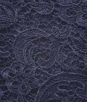 Bariano Lace Midnight Navy Fabric