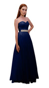 Bariano Mary Lace ball Gown Dark Navy