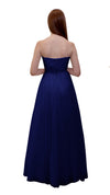 Bariano Mary Lace ball Gown Dark Navy back