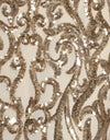 Bariano Shiva Pale Gold sequin fabric