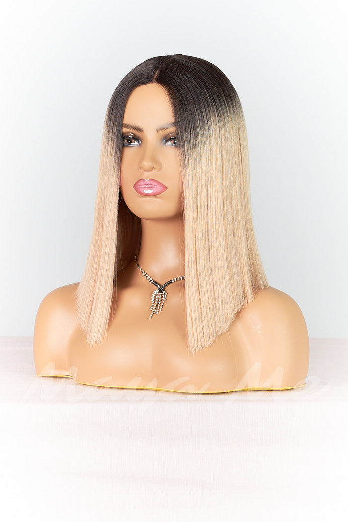 front lacewig semi naturelle carre rose