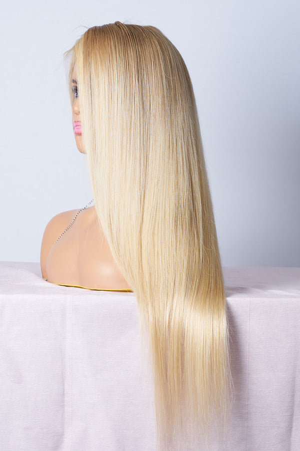lace wig blond longue