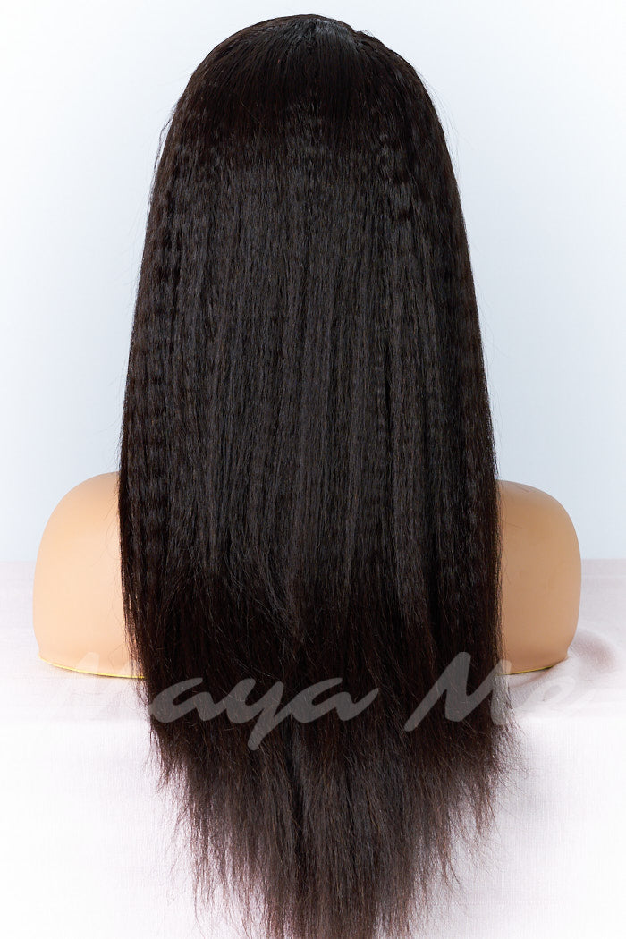 lace wig kinky lisse straight perruque cheveux naturels