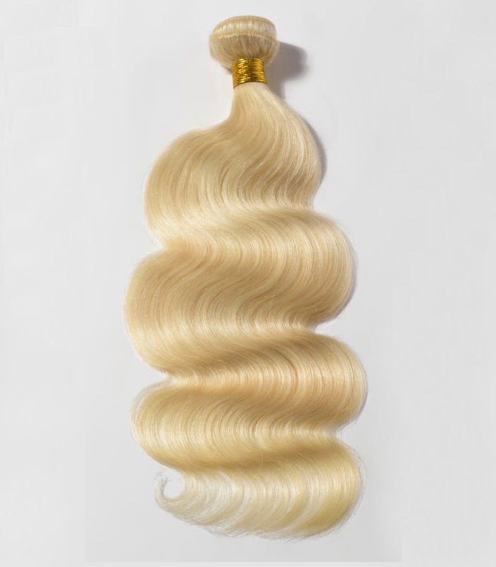 Tissage Lisse blond body wave platine 613